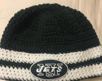 Inspired NFL New York JETS  Crochet Hat
