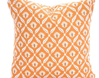 Orange Gray Decorative Throw Pillow Covers, Cushions, Couch Pillows, Cinnamon Clover Cushions Euro Sham, Throw Pillow, One or More All Sizes