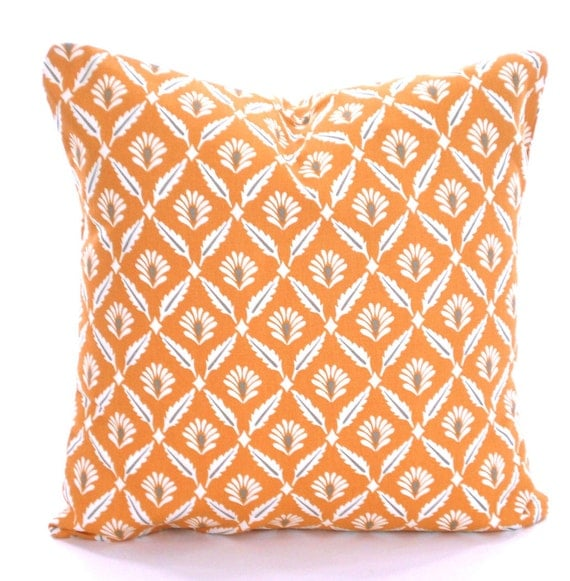 Orange And Grey Decorative Pillows : Orange Gray Decorative Throw Pillow Covers Cushions Couch