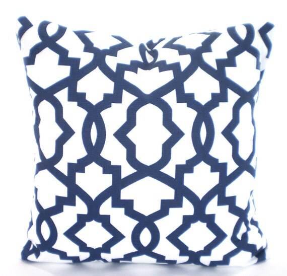 Etsy Navy Throw Pillow : Navy Blue White Pillow Cover Cushions Throw Pillow Couch