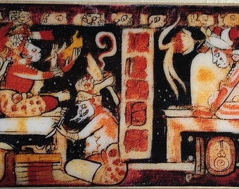 Hero Twins with Scribe in the Underworld