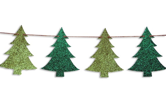 Christmas tree garland Christmas tree Banner Holiday Banner