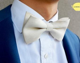 Cream White Bow Tie, Creamy White Bow Tie, Wedding Bow Tie, Cream White Wedding Bow Tie, Valentine's Day