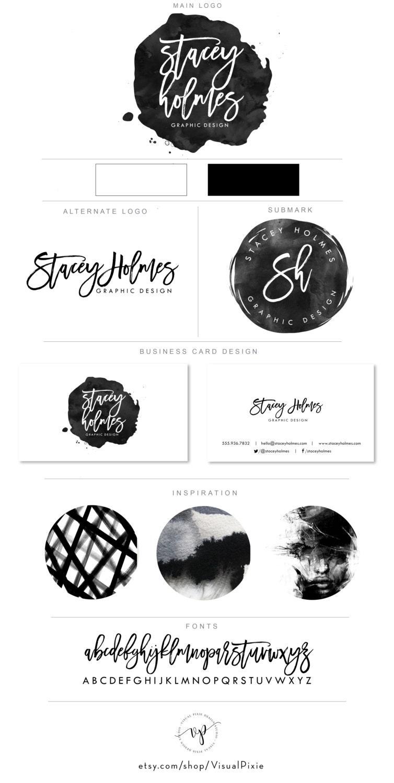 Premium branding package logos business card design black