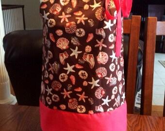 Toddler Pillowcase Dress- Beach Dress- Seashell Dress- Sizes 6 month-3T