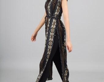 Tribal Kaftan Dress - Southwest Kaftan Dress - Maxi Dress with Slits - Long Tunic Dress