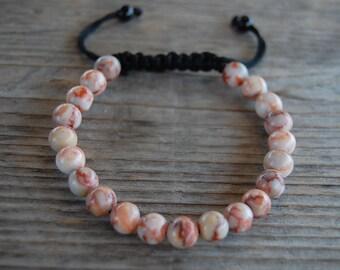 Rhodonite Jasper Bracelet,Gemstone 8mm Beads,Shamballa Bracelet,Yoga,Meditation Bracelet Fit All, Gemstone , Men,Women, Beaded Jewelry