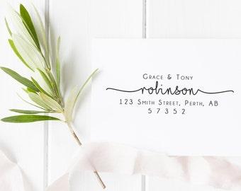 Return Address Stamp, Custom Address Stamp, Custom Self Inking Stamp, NewlyWeds Gift, Housewarming Gift