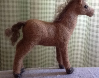 Needle felted foal