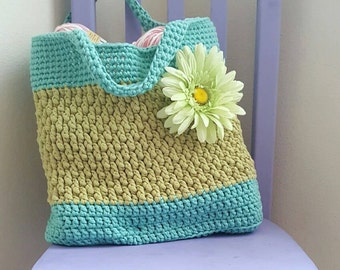 Brickwork Beach Bag Crochet Pattern *PDF FILE ONLY* Instant Download