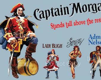 "Captain Morgan ""Above the Rest"" Print 12 x 18 Digital Download"