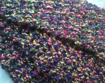 Pink Purple Yellow Green and Blue Crochet Scarf, Jewel, Green, Pink, Blue, Purple, Yellow,Bright Pink, Soft, Warm, Bright, Fashion, Homespun