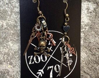 Limited Edition Fazooli ScurvyFace Pirate Earrings