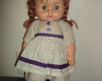 Vintage Horsman Doll W/Red Hair & Freckles 1972 CUTE!!