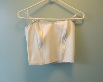 80s Leather Bustier Corset Top