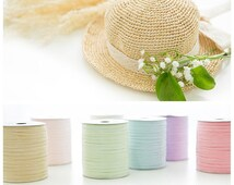 12 colors fine crochet summer sun hat yarn,beach bag yarn,crochet raffia yarn,straw yarn,crochet and knit yarn