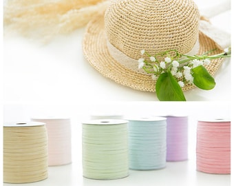 12 colors fine crochet summer sun hat yarn,beach bag yarn,crochet raffia yarn,straw yarn,crochet and knit yarn