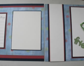 2 Premade Scrapbook Pages 12x12 Friends