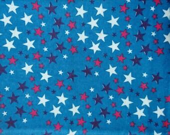 "fabric flannel, flanelette, stars, 100cm (1 m) (39 "")"