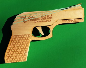 Stinger Side-Kick- 3 Shot Rubber Band Gun, Personalize it!