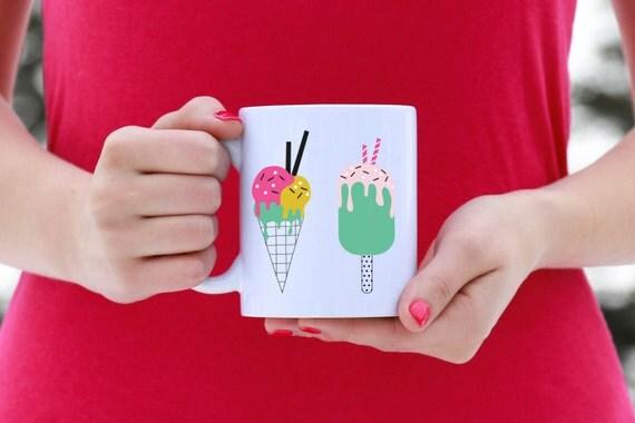 Ice Cream Cone Coffee Mug | Colorful | 11 oz.