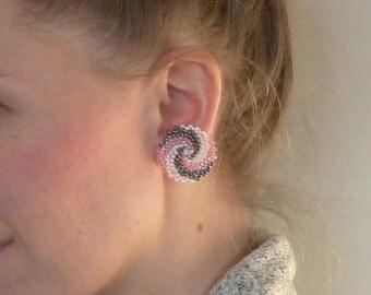 Triple Twist Hurricane ~ ORIGINAL DESIGN Beadweave Earrings
