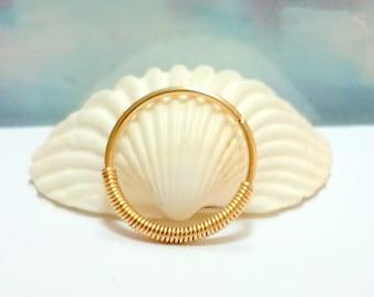 Gold conch piercing, conch earring, conch jewelry, conch ring,conch hoop, conch piercing jewelry, 16-22 Gauge, 12-16mm inner diameter