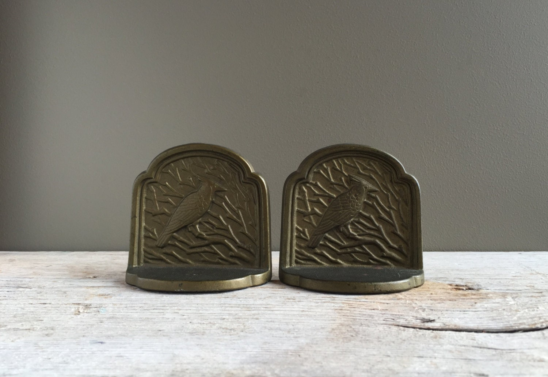 Antique cardinal bookends 1920s bronze bookends art deco - Antique brass bookends ...