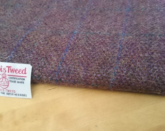 Harris Tweed Cloth Fabric Heather Check Luxury Handwoven 100% Pure Virgin Wool handwoven in Outer Hebrides Scotland