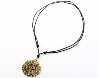 Sacred geometry necklace.