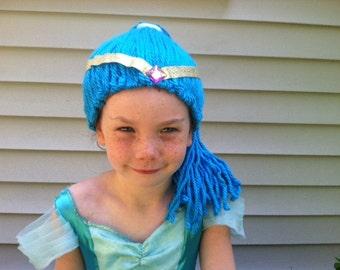 Blue Genie Wig, Genie Costume, Kids Halloween, Halloween costume, Genie dress up, Sisters costume, Genie party, Halloween hair, costume wig