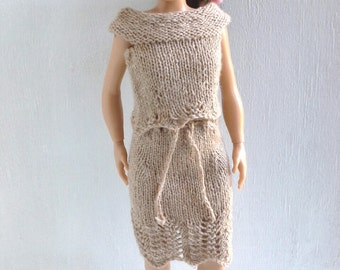 Lammily lace skirt, knitted skirt, Lammily clothes