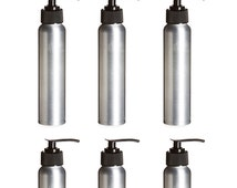 3 ALUMINUM 4 Oz Bottles, 120ml with Black Lotion Soap Pumps for DIY Projects Conditioner Shampoo Liquid Soap, Lotion, Hair Products 120 ml