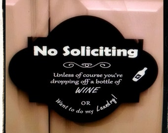 Front Door Sign - No Soliciting