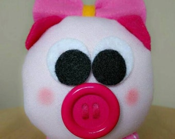 Handmade Small Stuffed Pig