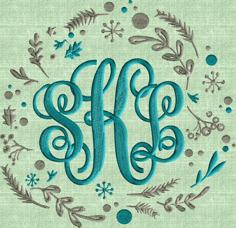 Shop Floral Monograms At Littlebrownnest Etsy Com: Whimsey Chalk Board Style Floral Font Frame Monogram