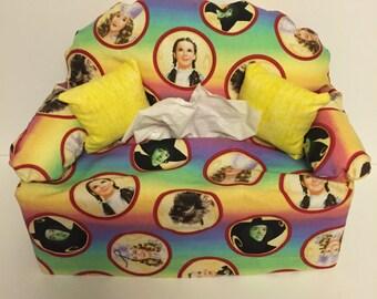 sofa tissue box cover -- Wizard of Oz, rainbow