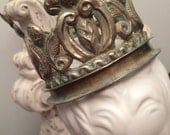 Repousse Santos Crown / Statuary Crown/ Silver Metal - Larger Size for Religious Statue