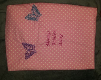 Personalized receiving /swaddle blanket