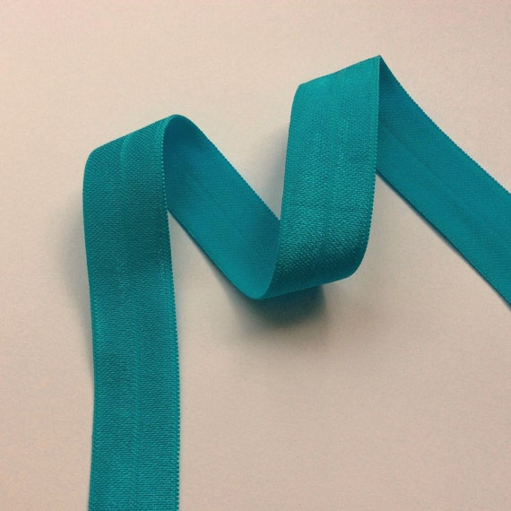 Fold Over Elastic Petrol Blue By The Yard 0 7 Quot 18mm