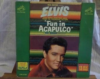 Elvis Presley Fun in Acapulco Soundtrack  Record LP Album