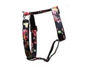 Designer dog harness BLOOM - designer harness with flower pattern