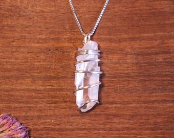 Quartz Necklace, Quartz Crystal, Quartz Crystal Necklace, Quartz Pendant, Quartz Point, Quartz Jewelry,