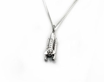 Sterling Silver Space Shuttle Pendant