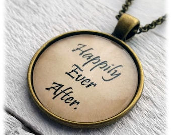 Happily Ever After Fairy Tale Pendant and Necklace