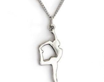 Sterling Silver Dancer Necklace Pendant Dance necklace ballerina recital gift hip hop jazz