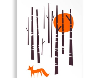 A4 Winter Fox Print