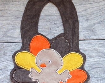 Thanksgiving Baby Bib- Turkey Bib- First Thanksgiving Bib- Fall Bib-Baby Bib