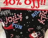 Happy Jolly Fun!! Medium Sized Basic Zippered Project Bag