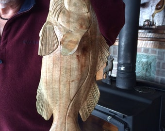 Wood Largemouth Bass - Hand Carved